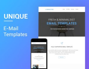 Email Template Bleeding Bulb - Minimal email template
