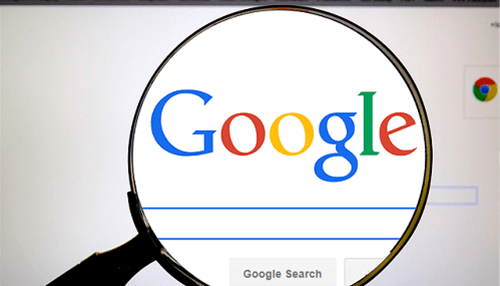 searching-for-google-with-magnifying-glass